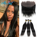 Peruvian Frontal Lace Closure Straight with Bundles 4 Bundles Peruvian Hair with Fontal Closure Straight Peruvian Virgin Hair