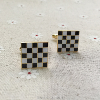 10 pairs Wholesale Freemason Enamel Cuff Links Masons Masonic Black White Checkered Rug Floor Blue Lodge Cufflink