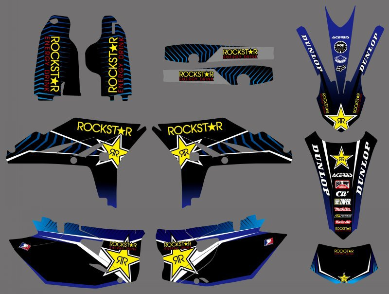 0507 Star NEW STYLE TEAM GRAPHICS BACKGROUNDS DECALS For Yamaha WR450F WRF450 2012 2013 2014 WR