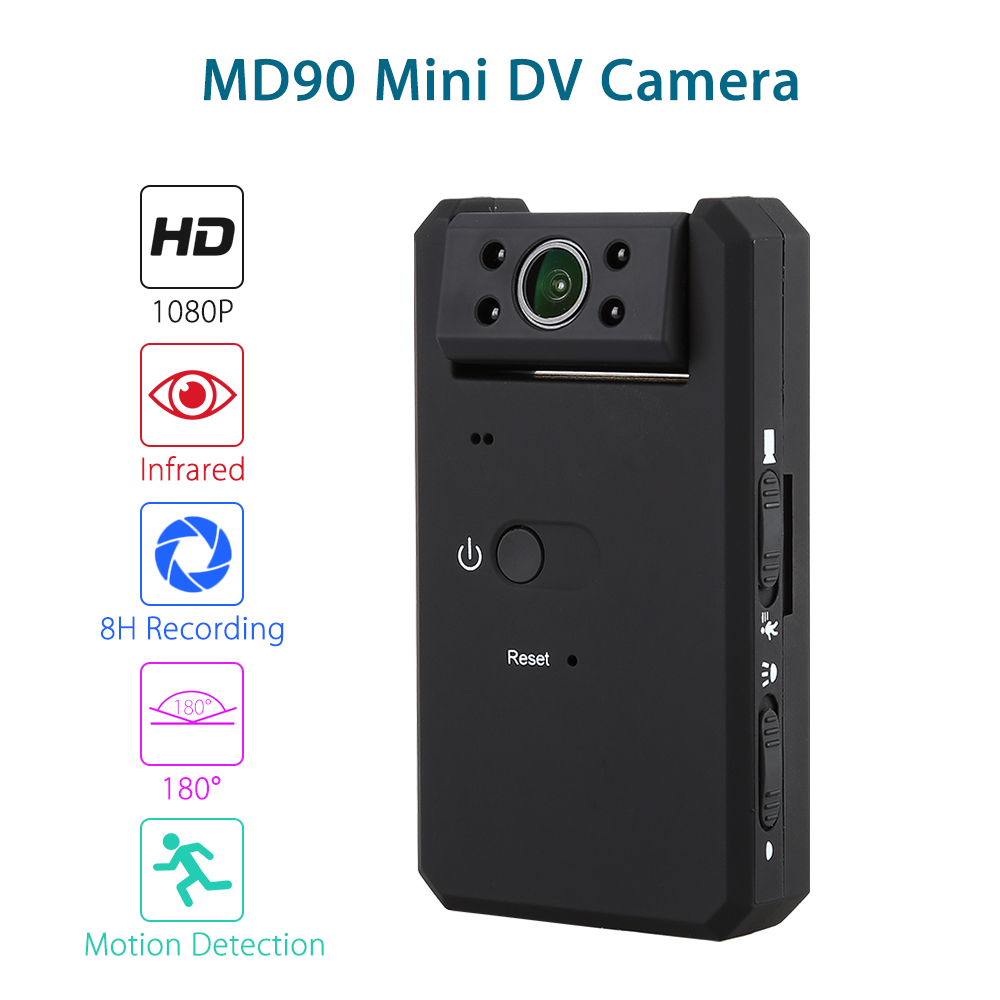 Smart Mini Camcorders DV Camera HD 1080P Infrared Night Vision 180 degree Rotation Cam Motion Detection