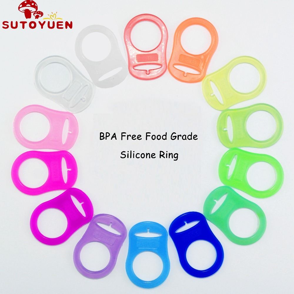 1000Pcs Silicone Adapter Rings Holder for Button Style MAM Nuk Dummy Baby Chupeta Pacifier Soother Teething