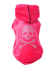 2015 New Trade Dog Clothes Velvet Drilling Skull Couple Wear Pullovers Dog Clothes Pet Shop