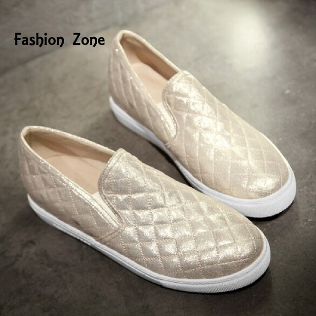 Zapatos Mujer 2016 Casual Women Leather Flat Shoes Round Toe Ladies Slip On Loafers Female Flats Sapatos Femininos XWD1948