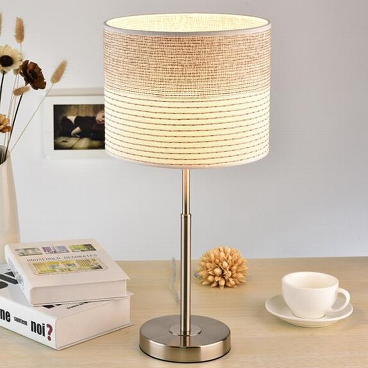 TUDA 24x50cm Free Shipping Creative Beige Flax Lampshade Table Lamp Elegant LED Table Lamp For Living Room Bedroom Table Lamp tuda 27x46cm free shipping modern minimalist style metal table lamp creative acrylic led table lamp for bedroom living room
