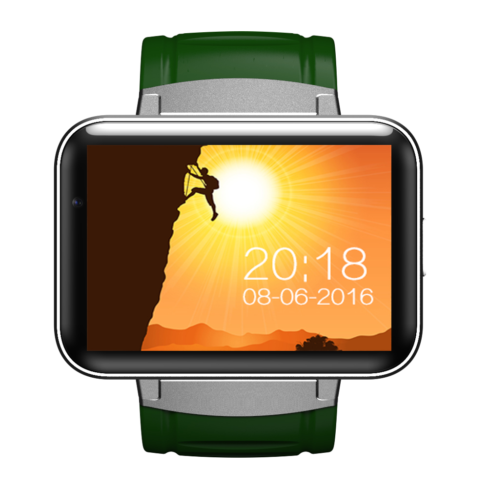 imágenes para DM98 reloj Inteligente MTK6572 Dual core 2.2 pulgadas IPS HD de Pantalla LED 900 mAh Batería de 512 MB Ram 4 GB Rom Android 4.4 OS 3G WCDMA GPS WIFI