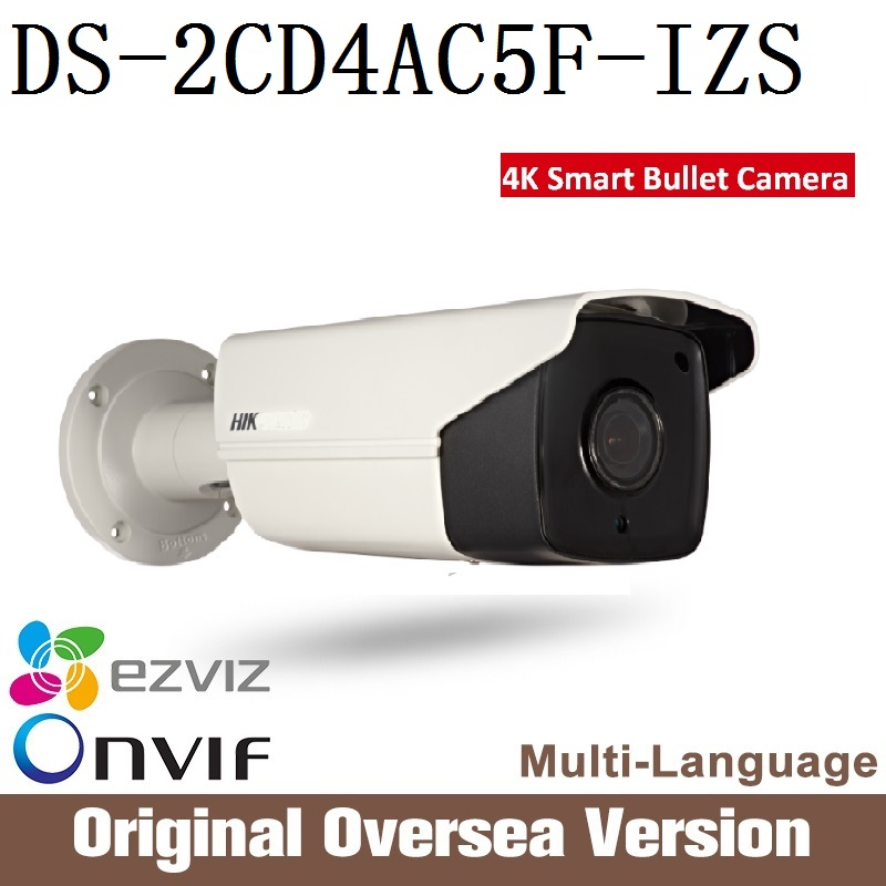 HIKVISION  original English Version DS-2CD4AC5F-IZS Ip Camera smart Cctv Bullet 1080p Poe Ip67 da hua H265 WDR Onvif RJ45 hikvision ds 2cd4a25fwd iz 2mp smart ip camera cctv bullet 1080p poe ip67 ir english version h265 wdr onvif rj45 lightfighter