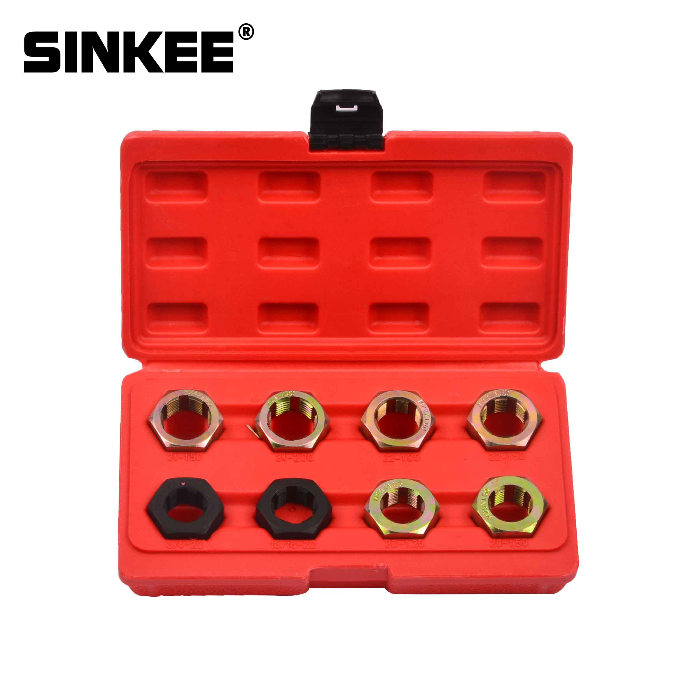 8pc Axle Spindle Fractional Metric Rethreading Tool Set Thread Repair M20 M22 M24 13/16 3/4 X20 UNEF SK1398