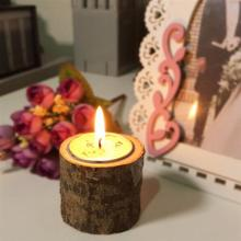 wooden tree branch rustic candle holder wedding home decor lover romantic vindicate candlelight dinner props