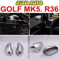 Mirror Cover shell For VW Golf 5 MK5 Passat B6 R36 Sport Golf 5 R Rearview outside aluminum Satin finish