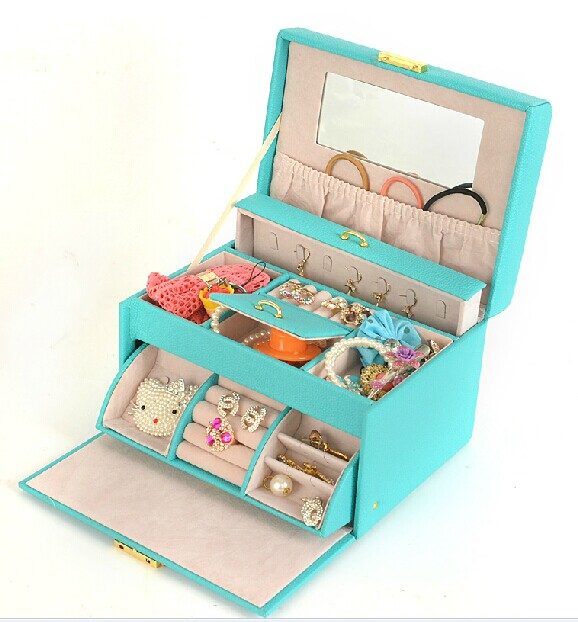 Stylish atmosphere queen style leather jewelry boxes factory outlets