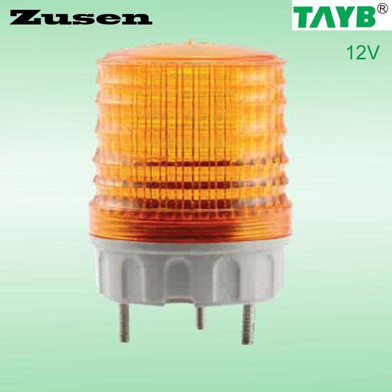 Zusen TB5051 12V yellow led Signal lamp Warning Light LED small Flashing Light 8 led flashing yellow light caution warning lamp with magnetic mount holder
