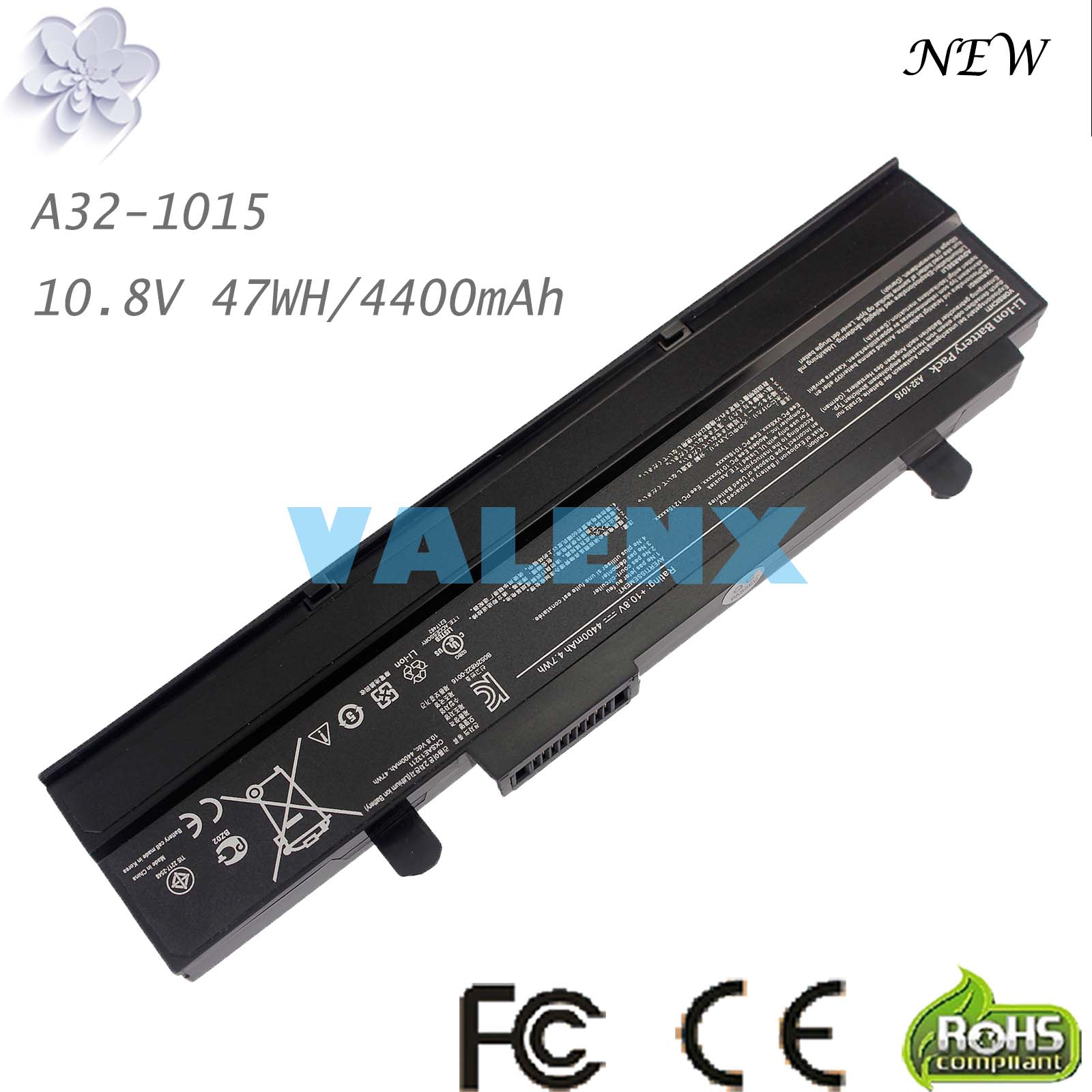 laptop Battery For Asus Eee PC EPC 1215 PC 1215B 1215N 1015b <font><b>1015</b></font> 1015bx 1015px 1015p A31-<font><b>1015</b></font> <font><b>A32</b></font>-<font><b>1015</b></font> AL31-<font><b>1015</b></font> image