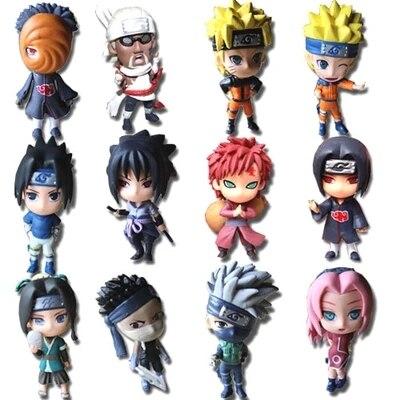"""12pcs <font><b>Full</b></font> <font><b>Set</b></font> <font><b>Q</b></font> <font><b>Edition</b></font> <font><b>Naruto</b></font> <font><b>Anime</b></font> <font><b>Action</b></font> Figures Collection PVC 3"""" <font><b>Naruto</b></font> Figures Model toy <font><b>Set</b></font> Free Shipping"""