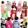 2016 do Dia Das Bruxas Do Bebê Romper Grosso Flanela Outono Menina Animais Macacão de Bebê Dos Desenhos Animados Meninos Roupas de Outono/Inverno Roupas de Bebê Menino