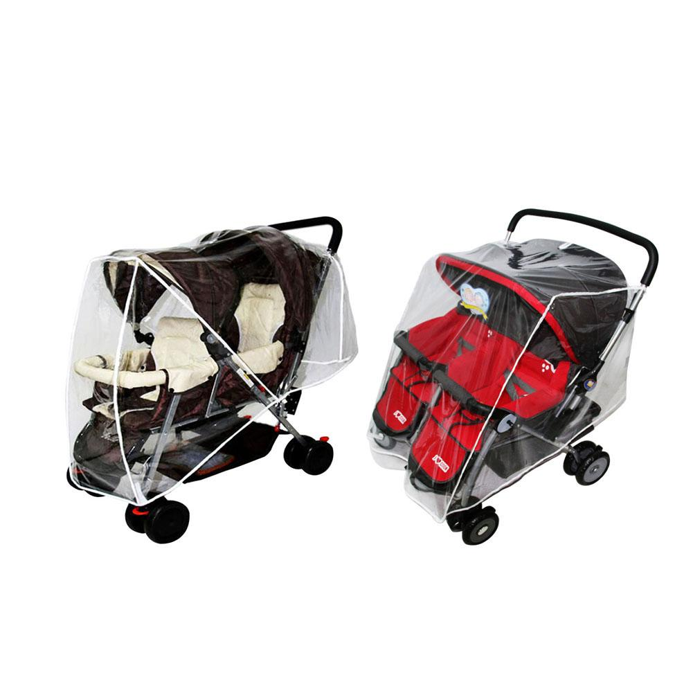 Weather Shield For Double Stroller - Side By Side Baby Stroller Rain Cover