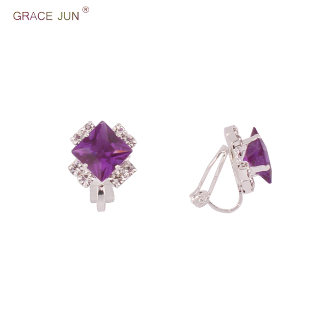 85708652fe0ac US $1.72 41% OFF|GRACE JUN Silver Plated Clip on Earrings No Pierced for  Girl Baby Charm Cute Rhinestone Crystal Lovely Clip Earrings Xmas Gift-in  ...