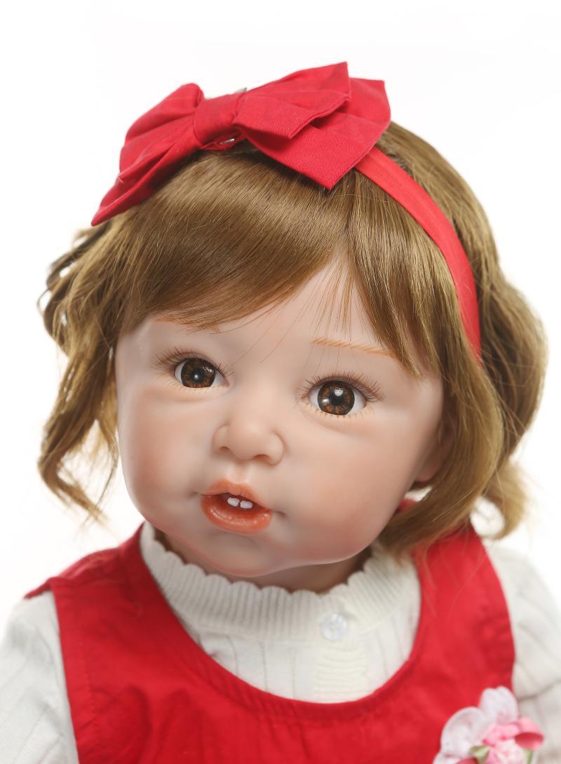 80cm de silicona de vinilo Reborn Baby Doll bebés realista muñeco de bebé Reborn s juguete ropa modelo niñas Brinquedos - 2