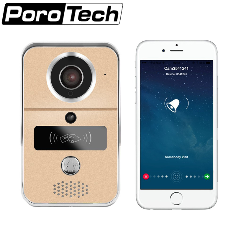 KW02C Smart Home Android Iphone Video Wifi Unclock Video Camera Phone Door Bell Support Smart Lock Wireless Key Card