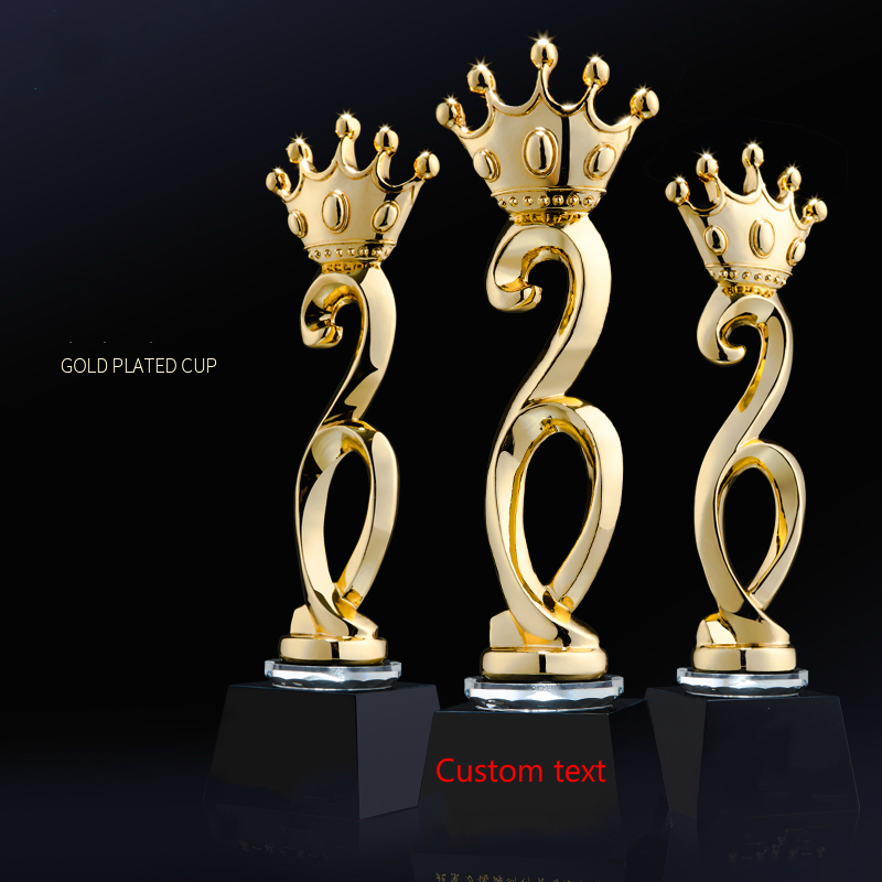 New Pattern An Crown Crystal Trophy Customized Best Beauty Contest Souvenir Cup Excellent Team Champion Cup Trophy Winners Gift