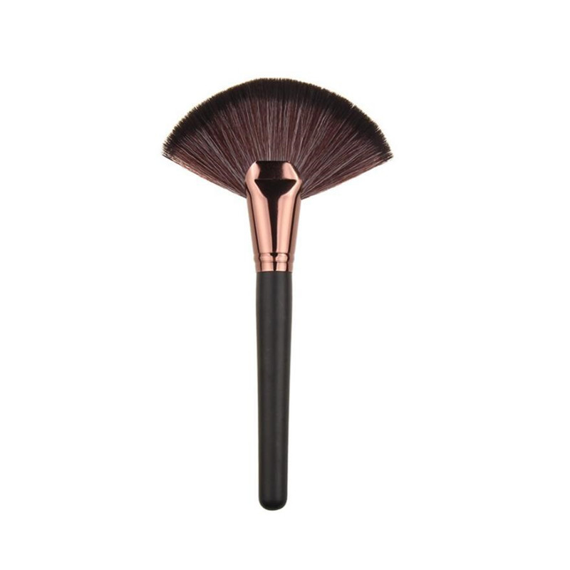 CCBLING Professional 1pc Soft Makeup Large Fan Brush Blush Loose Powder Foundation Beauty Make Up Tool Big Fan Cosmetics Brushes