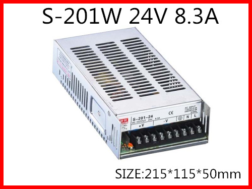 S-201W 5V 12V 15V <font><b>24V</b></font> 36V 48V Single Output <font><b>Switching</b></font> <font><b>power</b></font> <font><b>supply</b></font> for LED Strip light AC-DC image