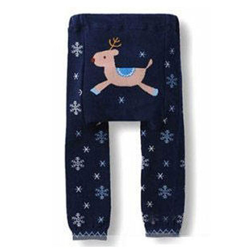 Baby PP Pants Boys Girls Cartoon Print Knitted Elastic Waist Toddler Leggings Kids Clothes