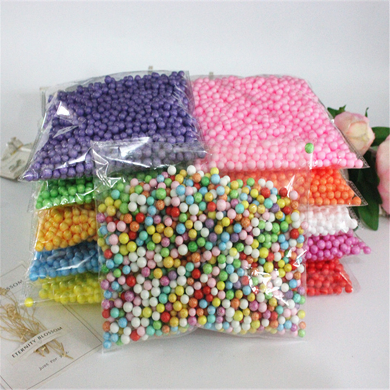 7-9mmPolystyrene Styrofoam Plastic Foam Mini Beads Ball DIY Assorted Colors Decorate about 2000pcs prescription drug