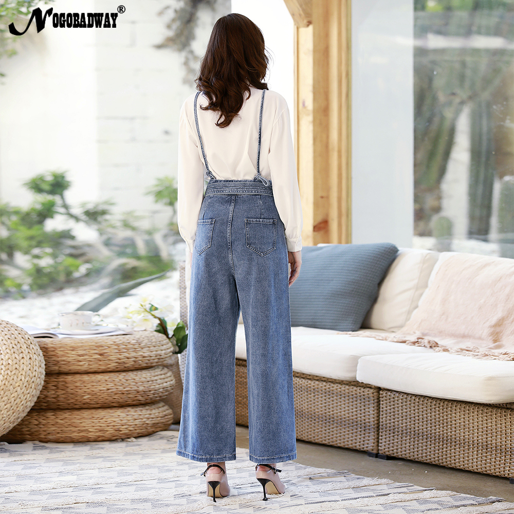 Hot Sale 2019 New Retro High Waist Wide Leg Jeans Women Spring Fashion Pockets Burr Denim Pants Casual Loose Trousers Women's Clothing Jeans