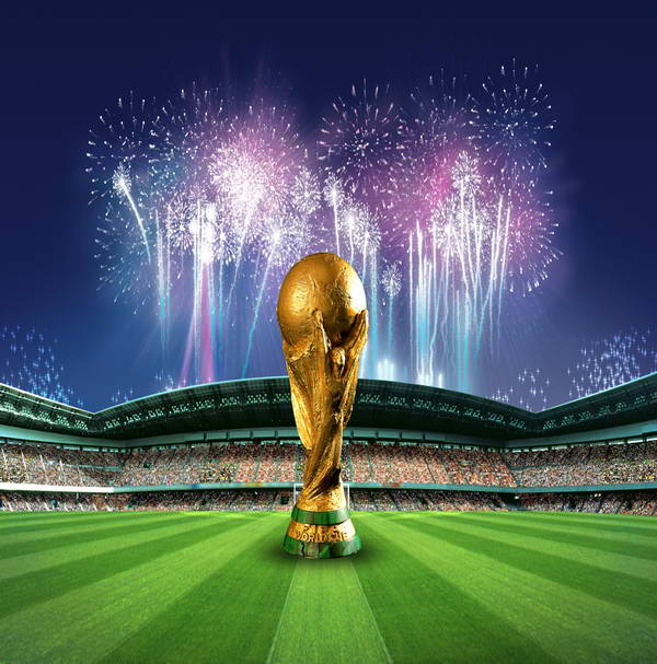World Cup Football Soccor Sports Field Backgrounds Vinyl cloth High quality Computer printed party photo backdrop world cup in south africa world cup model european soccer cup trophy custom football fans articles