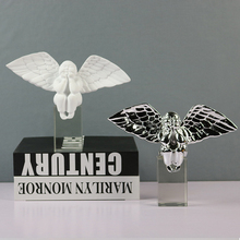 Nordic Modern Cute Fat Angel Statues Resin Crafts Figurines Crystal Base Desk Ornament Gifts Kids Room Home Decor Accessories