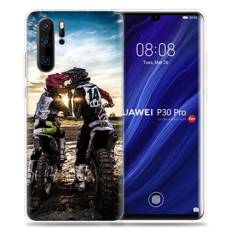 טלויזיות, פלאזמות, LCD Case מוטוקרוס אופנועים dirtbikes הצלב עבור Huawei P20 P30 P חכם Z פלוס נובה 5 5i P10 Mate P9 10 20 lite סיליקון פרו תיקים טלפון (3)