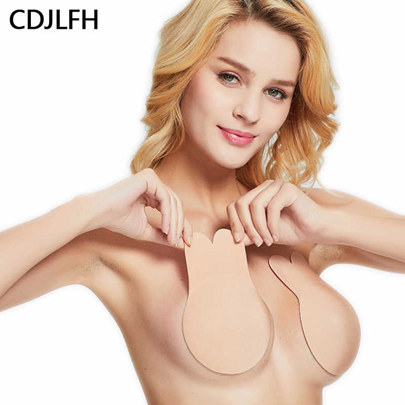 Breast Lift Tape Intimates Sexy Underwear Accessories Women Reusable Silicone Push Up Breast Nipple Cover Invisible Adhesive Bra
