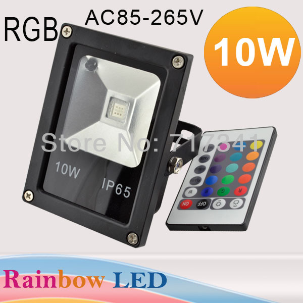 2017 Real Led Floodlight Free Shipping Led Flood Light Remote Control Outdoor Lighting High Power Floodlight With Ir Controller