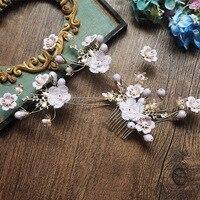 3 개 세트 보라색 작은 꽃 봉오리 U 클립 꽃 hairstick 보라색 머리 빗 신선한 꽃 머리 결혼식 신부 머리 보석