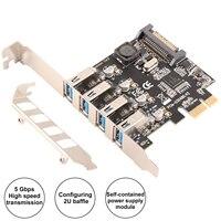 Ubit USB3.0 Superspeed Expansion Card PCI E to 4 Port USB PCI E Expansion Card for PC Desktops Windows 7/8/8.1/10/XP/Vista