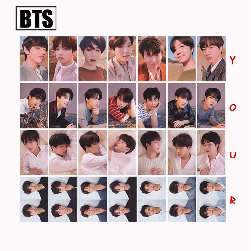 Creative Kpop Bts Bangtan Boys Mini 5th Love Yourself Album Photo Card Hip Hop Self Made Paper Cards Autograph Photocard Pretty And Colorful Jewelry & Accessories