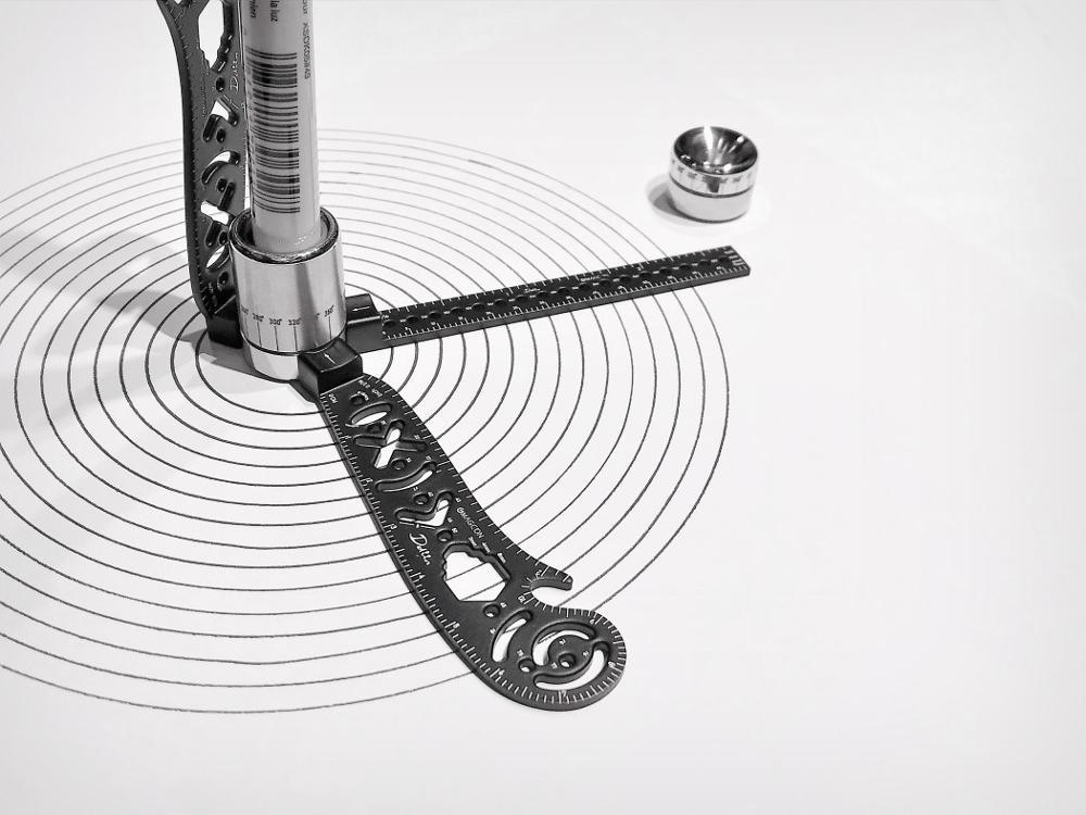 Aletler'ten İletkiler'de Magcon nihai tasarım aracı Mini pusula iletki Combo daire çizim en çok yönlü ve taşınabilir araç title=