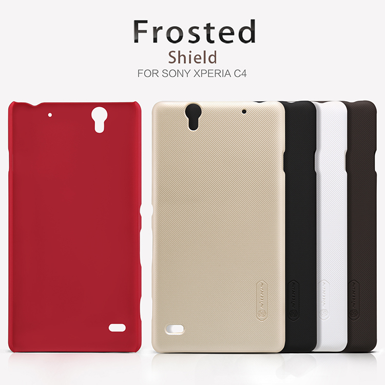 quality design 99a36 d4cf7 US $7.57 |Nillkin Super Frosted Shield Case Back Cover For Sony Xperia C4  (5.5inch) High Quality Case for Xperia Cosmos/E5306/E5353 /E5333 on ...