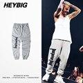 HEYBIG hip hop Sweatpants 2016 New Hot Homens Jovens de rua Calças de Moda da América Do Norte A/W Calças Tamanho Asiático roupas