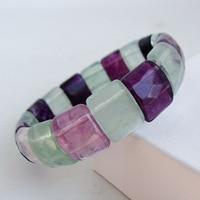 Purple Fluorite Stone Bracelet Natural GEM Stone Bracelet DIY Jewelry Bracelet for Woman's Gift Free Shipping Wholesale