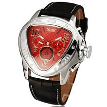 Победитель мужчины бизнес выдающийся автоматические механические наручные часы кожаный ремешок треугольная набора суб-набор