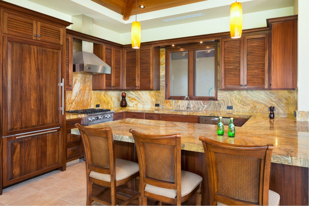2017 Customized Made Solid Wood Kitchen Cabinets Retail