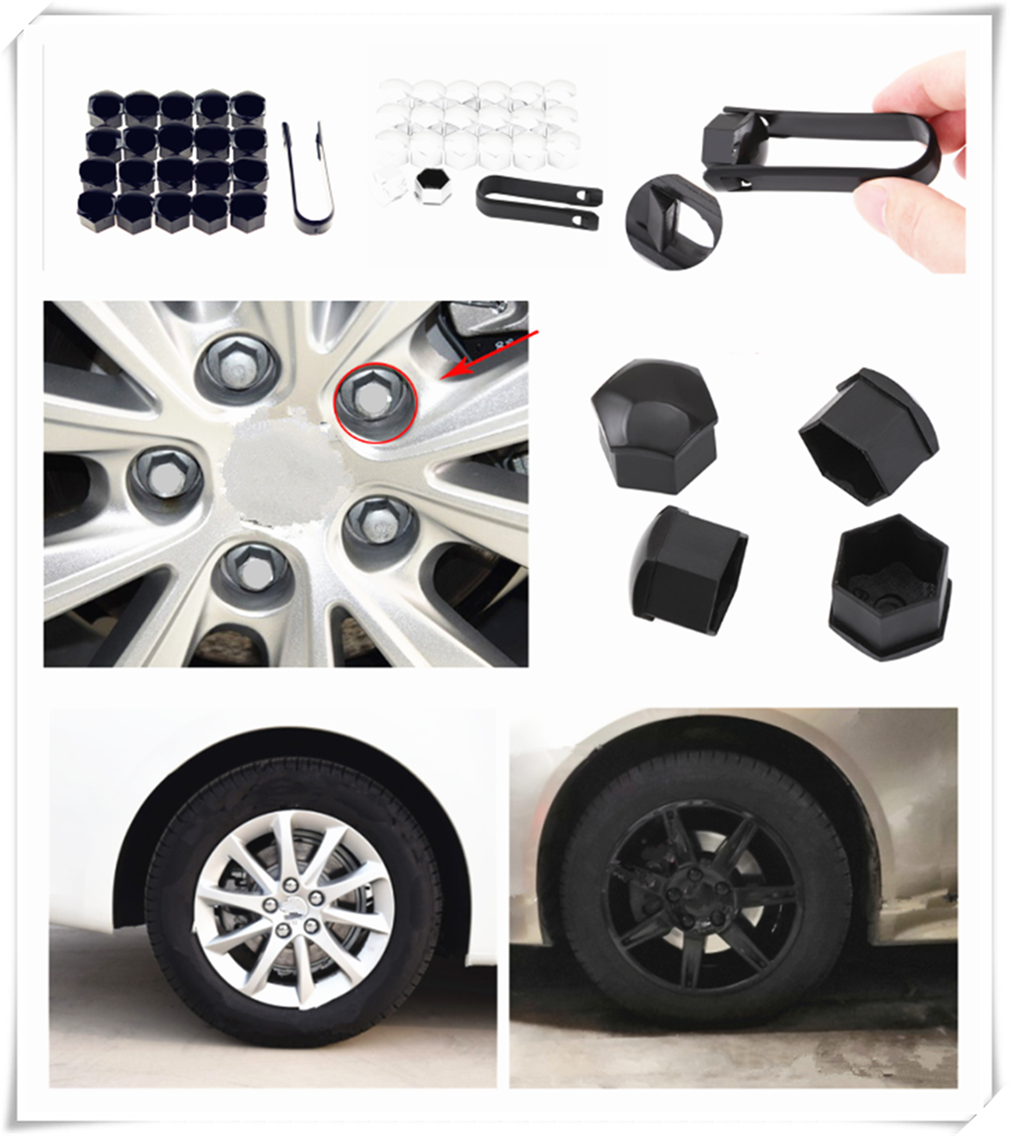 Nuts & Bolts 20pcs 17mm 19mm Wheel Nut Cap Car Screw Bolt Wheel Ring Decoration For Mercedes Benz Gls63 Gls Gle43 B55 Shooting S400 Good Heat Preservation Auto Replacement Parts