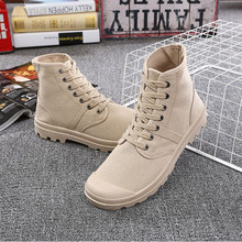 TAILLE 36-45 Unisexe Mode Bottes Hommes Toile Chaussures à lacets Bottines solide Printemps automne Casual Respirant chaussures k61