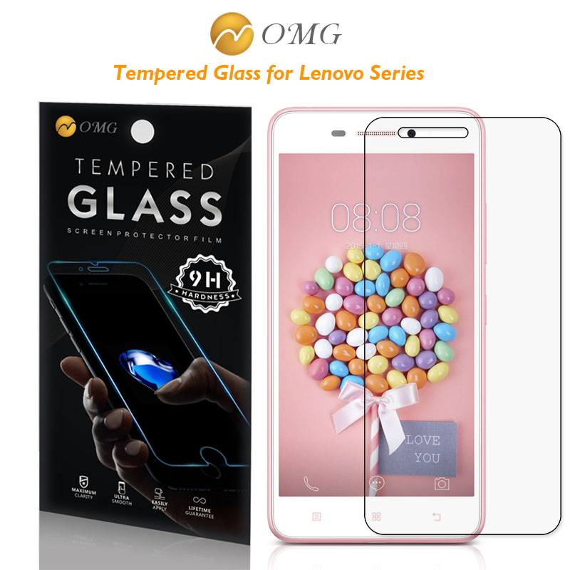 OMG Tempered Glass For lenovo A 5000 536 606 916 S 60 90 850 860 P70 T VIBE P1 X2 K3 note Screen Protector Film + Retail package