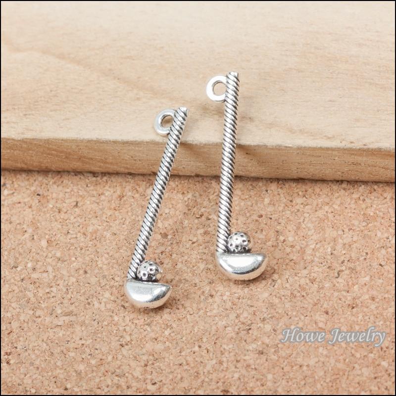 120pcs vintage golf sports charm Antique silver Pendant DIY European Style Jewelry Making B259