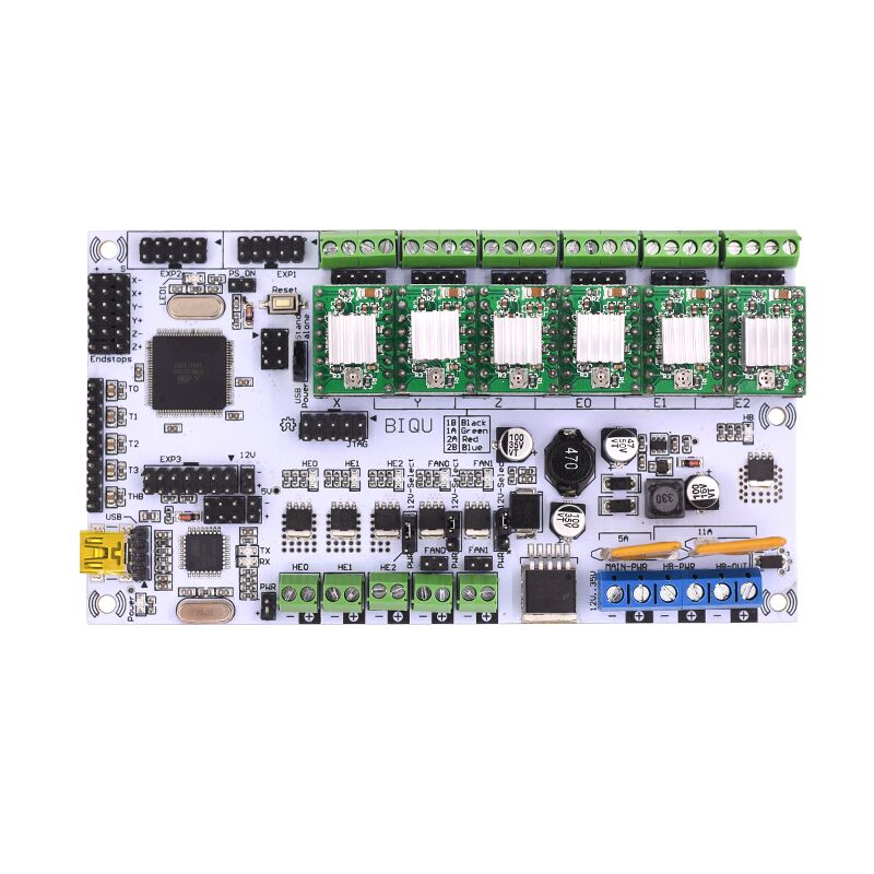 Rumba For 3D Printer Start Kits Mother Board Rumba Board With 6pcs DRV8825 Stepper Driver &6pcs Heatsink with free shipping rumba plus 3d printer start kits mother board upgrade rumba control board with 6pcs drv8825 stepper driver suitable mks tft