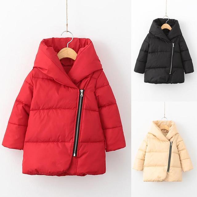 Crianças inverno Meninas Quente Para Baixo Crianças Parkas Casaco Longo Outerwear Casaco para as meninas