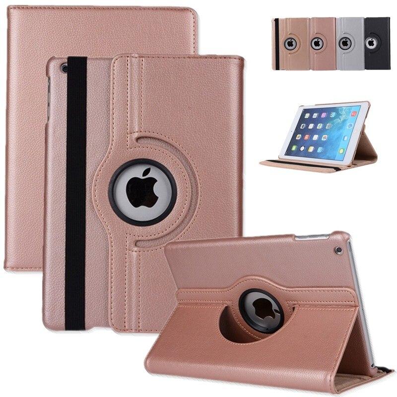 b3e5e4d7219 Funda de cuero PU giratoria de 360 grados para apple i pad mini 4 Funda de  tableta inteligente Funda para ipad mini 4 Funda Coque + película +  bolígrafo ...