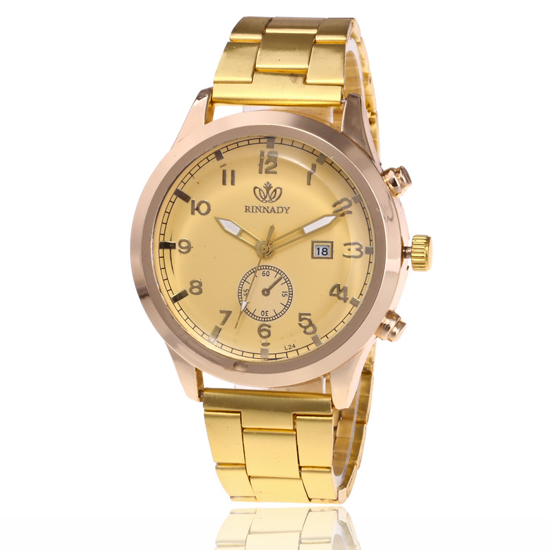 Rinnady Top Brand Watches Men Relojes Mujer Gold Calendar ...